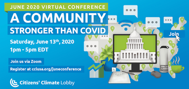 At least 4,685 people tuned in via Zoom and social media live streams for Citizens' Climate Lobby's 2020 conference,