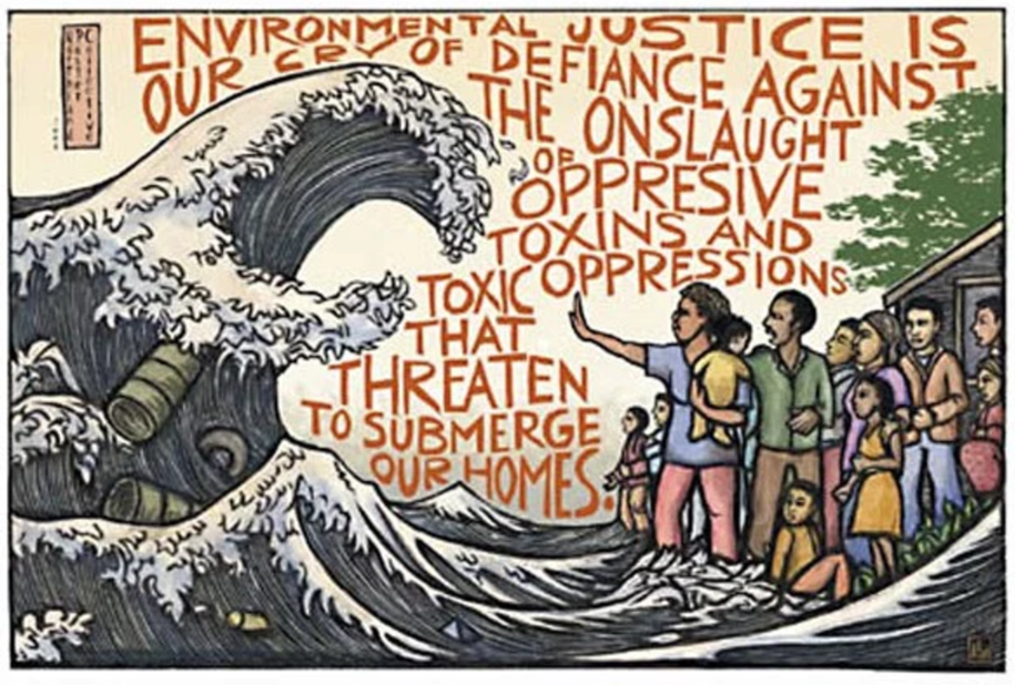 Environmental Justice mural from Sustainable Trent
