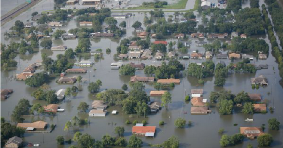 Port Arthur, Texas underwater in the wake of Hurricane Harvey. (Photo: SC National Guard / Flickr)