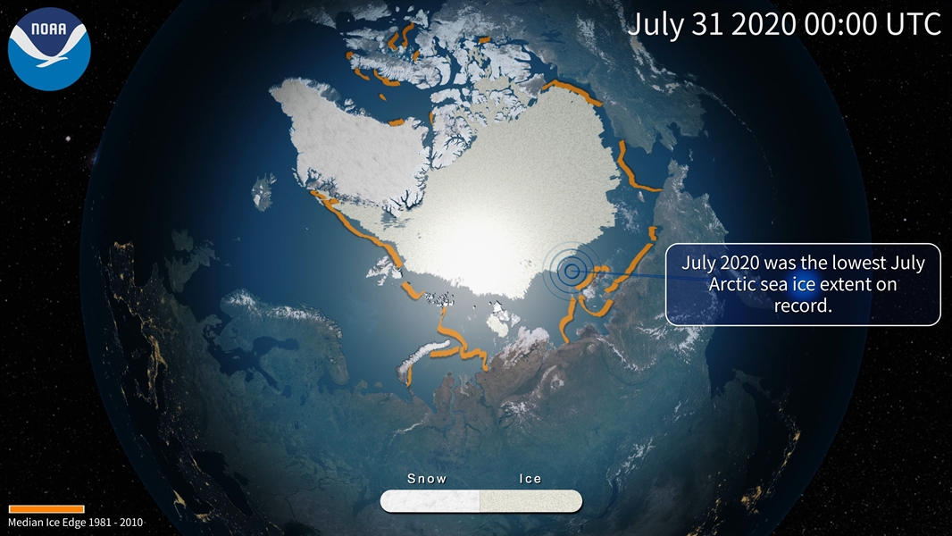 2020 Arctic sea ice melt may not set a record, but it looks to be close