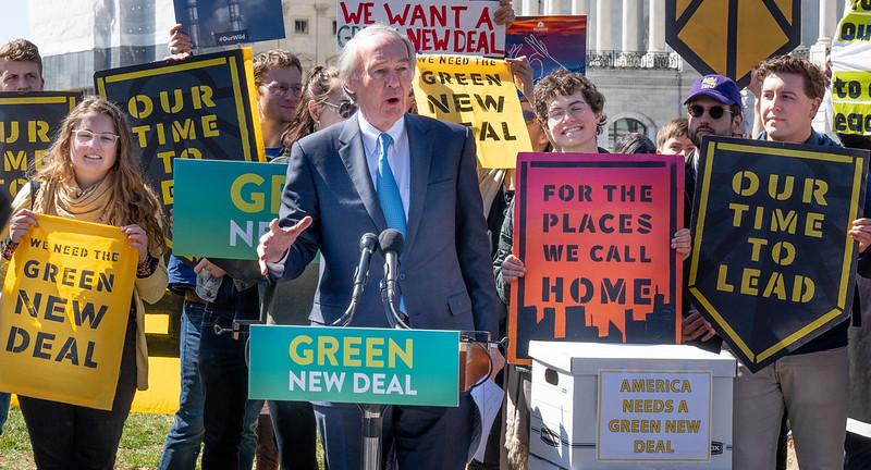 Sen Ed Markey promoting his Green New Deal legislation