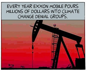 Exxon pays for climate denial