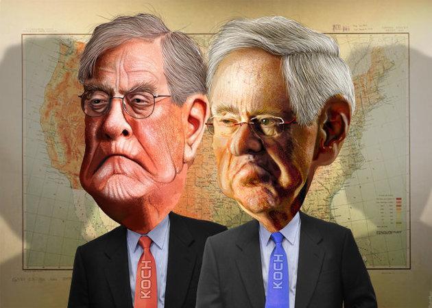 Koch Brothers by Donkeyhotey