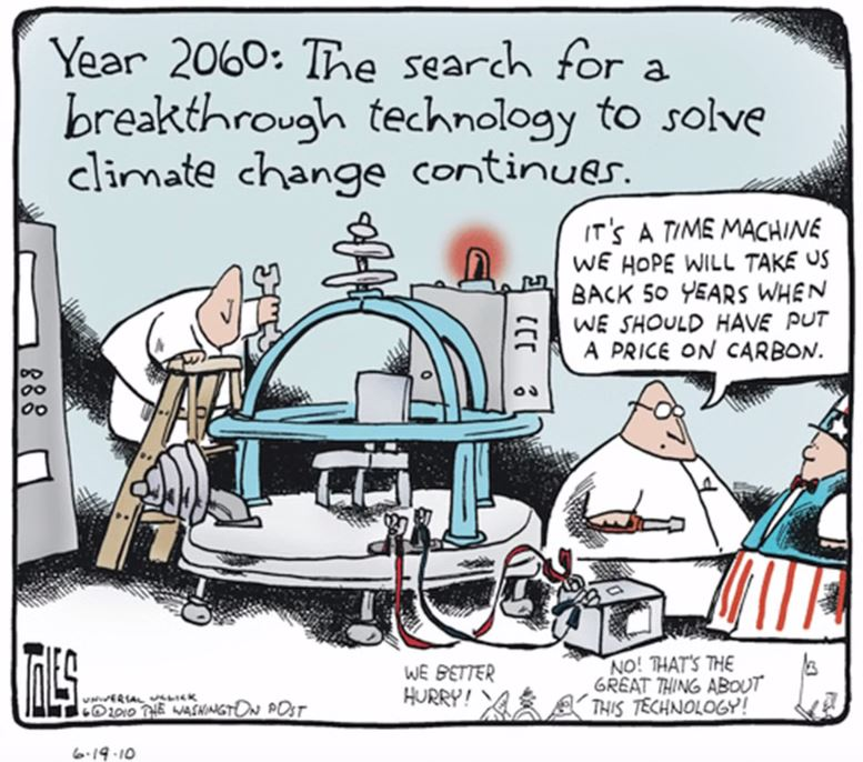 Tom Toles climate time machine