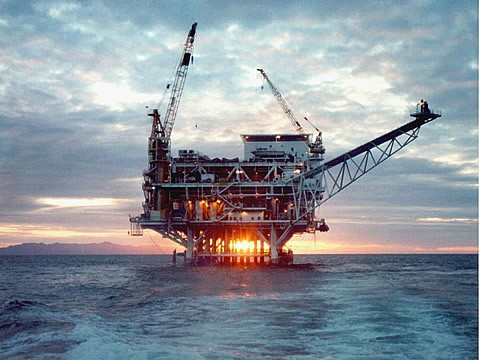 big oil - drilling platform off California's coast