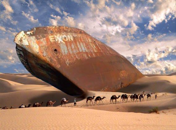 Exxon desert oil tanker