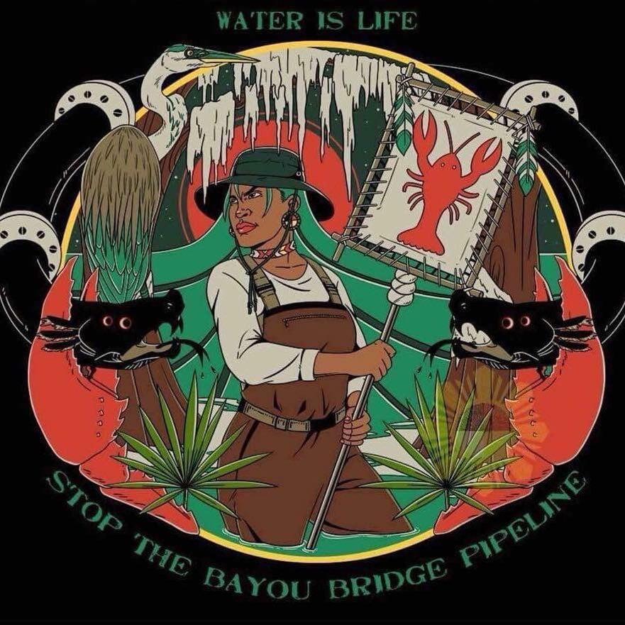 L'eau Est La Vie Camp - No Bayou Bridge pipeline