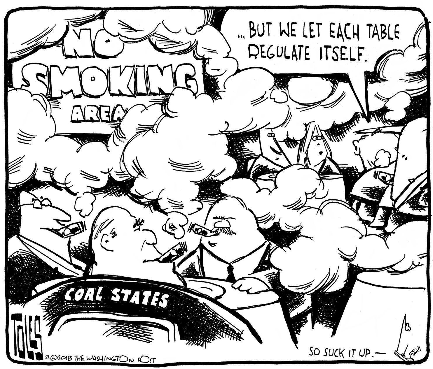 tom toles climate change coal plan