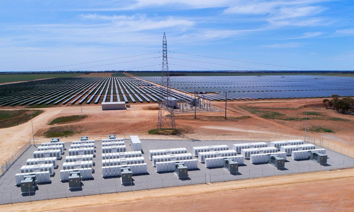 Gannawarra solar power plant and battery storage. Credit: EnergyAustralia