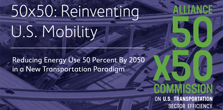 50 by 50 - cutting US transportation energy use in half