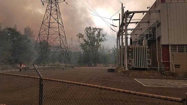 california power lines fire PG&E