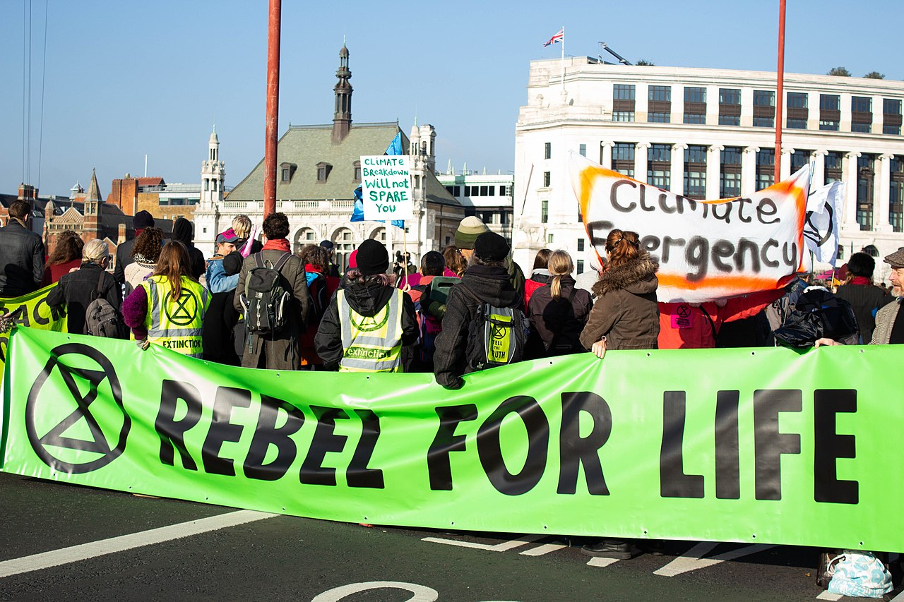 extinction rebellion - yes, they raise funds to fight climate change. Shocked?