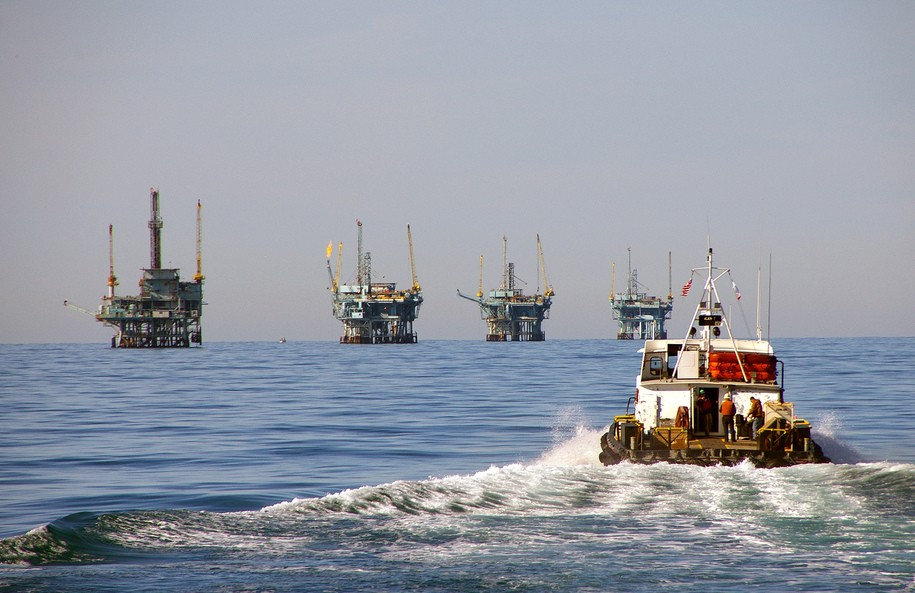 Oil drilling off the coast of California