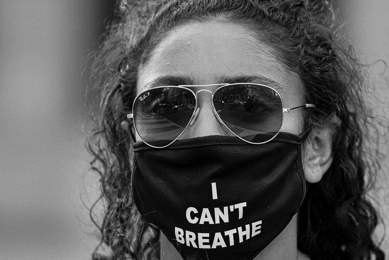 """Black lives matter """"I can't Breathe"""" photo by Miki Jourdan from DC protest BLM"""