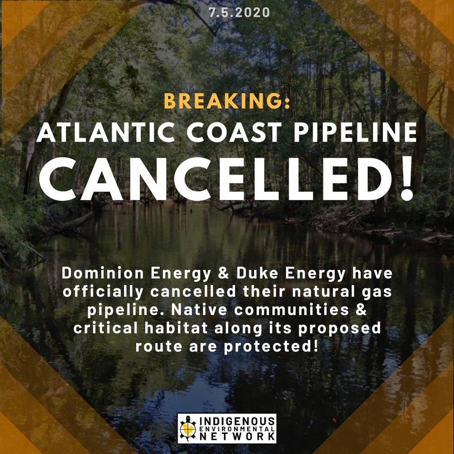 'The Future Does Not Belong to You,' Climate Campaigners Say to Big Oil After Cancellation of 600-Mile Atlantic Coast Pipeline